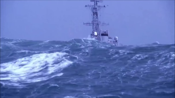 Military ship in extreme storm_Moment_Moment