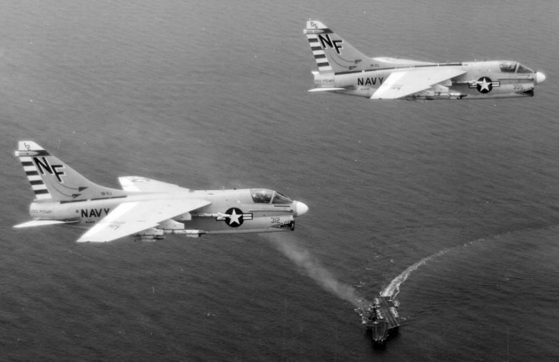 A-7A Corsair II_VA_93_CVW5_Midway_CVA41_1970s_NNAM